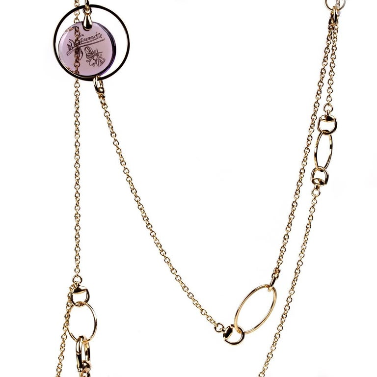 5ca8e4883c2 Gucci Flora Amethyst Drop Necklace For Sale at 1stdibs