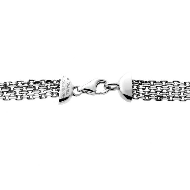 Women's Chanel Diamond and Aquamarine White Gold Necklace For Sale
