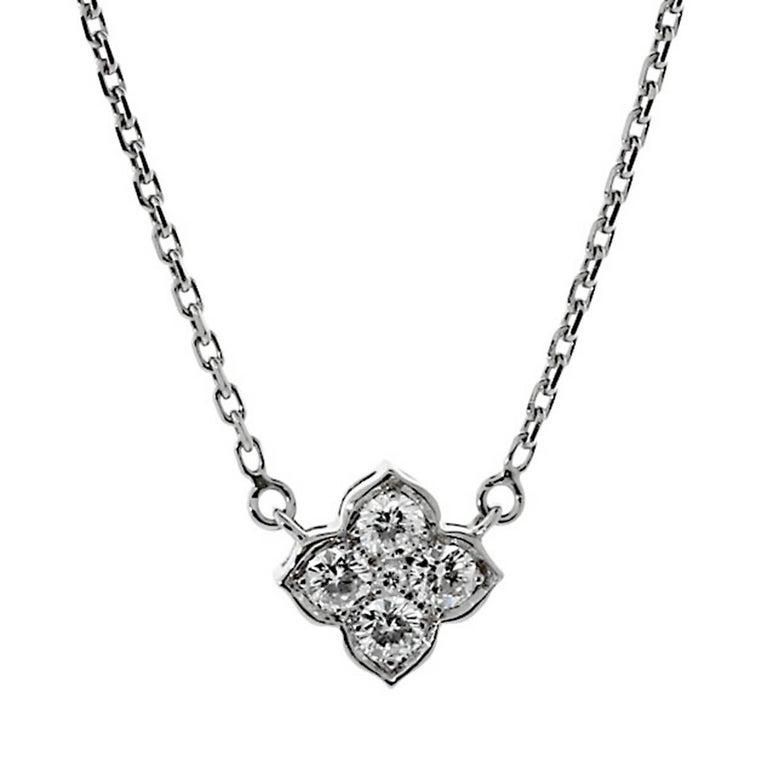 Cartier Flower Diamond Gold Choker Necklace