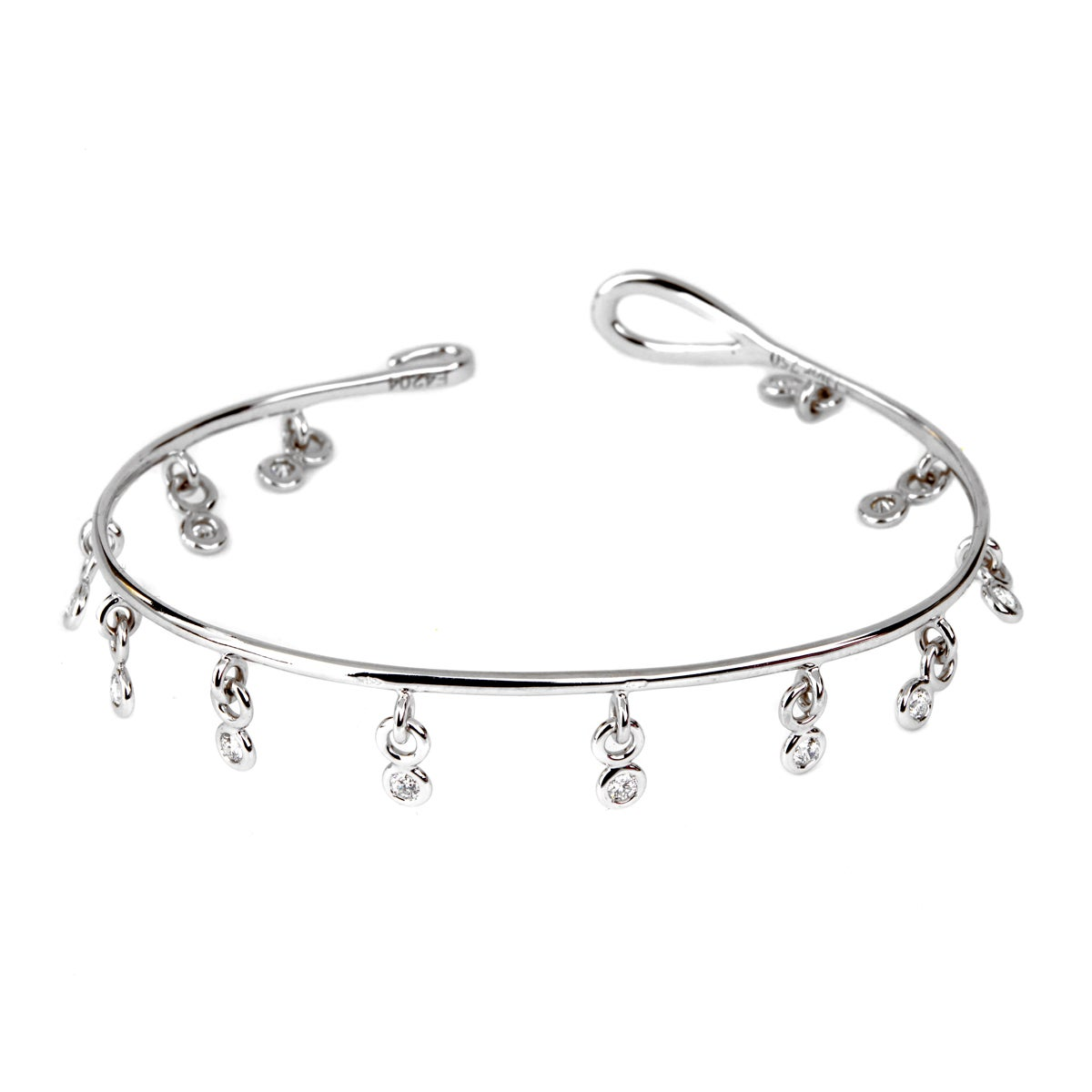 diamond h designs product bangle crossover bracelet jewelry bangles
