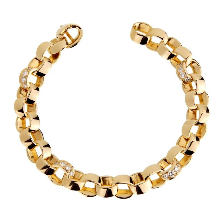 Van Cleef & Apels Diamond Gold Chain Bracelet