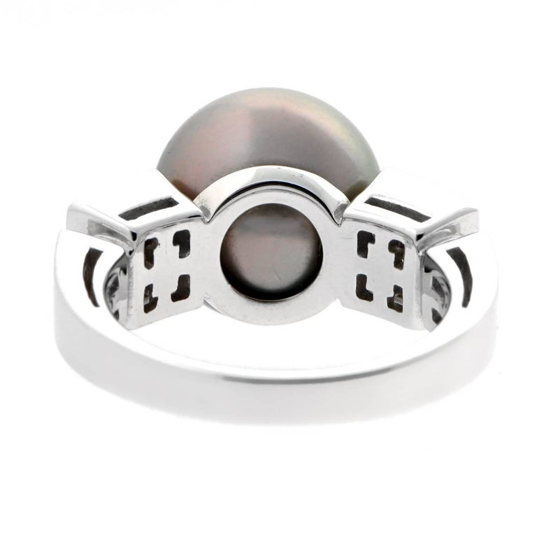 Round Cut Bulgari Lucea Pearl Diamond Ring For Sale
