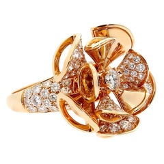 Bulgari Diva Diamond Gold Ring
