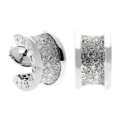 Bulgari Bzero1 Pave Diamond White Gold Earrings