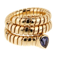 Bulgari Tubogas Gold Iolite Ring