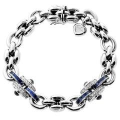 Chopard Sapphire Diamond White Gold Bracelet