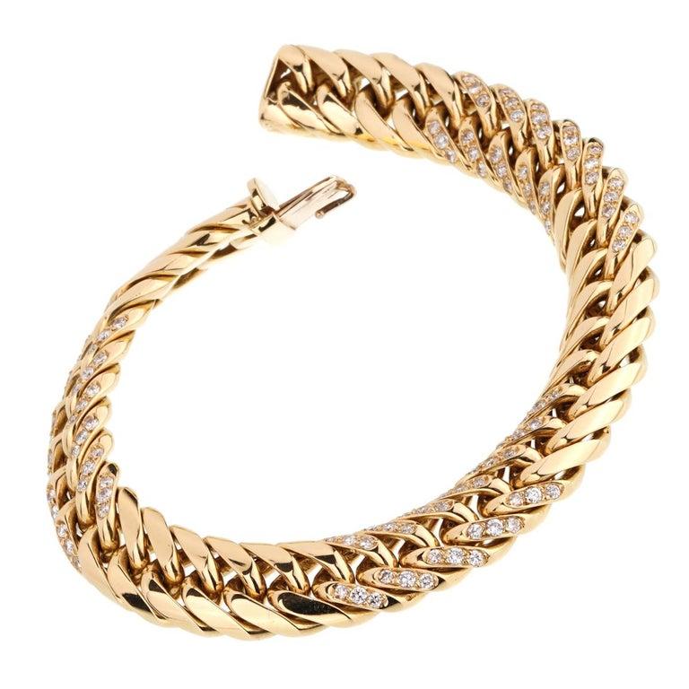 Van Cleef & Arpels Vintage Diamond Gold Bracelet