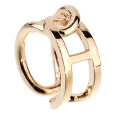 Hermes Chaine D Ancre Yellow Gold Ring