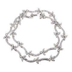 Bulgari Diamond Tennis White Gold Necklace