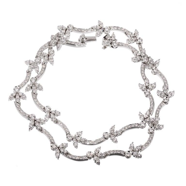 Bulgari Diamond Tennis White Gold Necklace