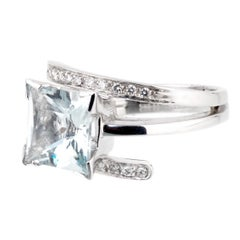 Recarlo Aquamarine Diamond White Gold Ring