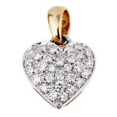 Chimento Diamond Heart Pendant Necklace