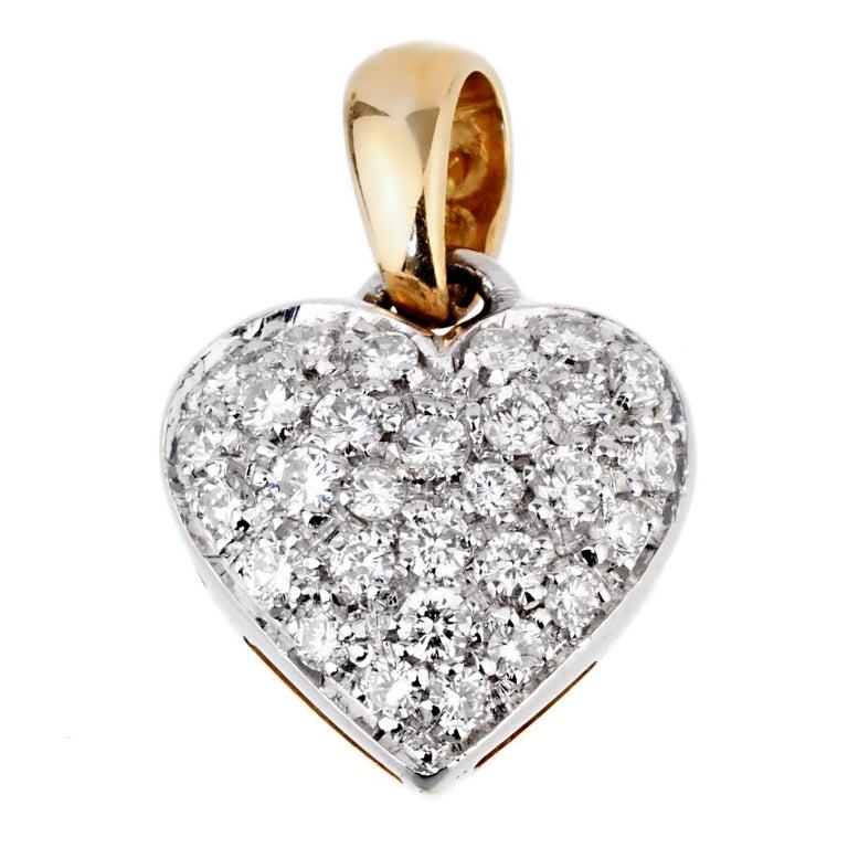 Chimento Diamond Heart Pendant Necklace