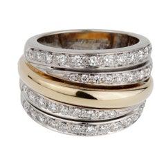 Pomellato Diamond Cocktail Gold Ring
