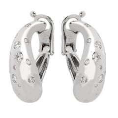 Fred of Paris Diamond Hoop White Gold Earrings