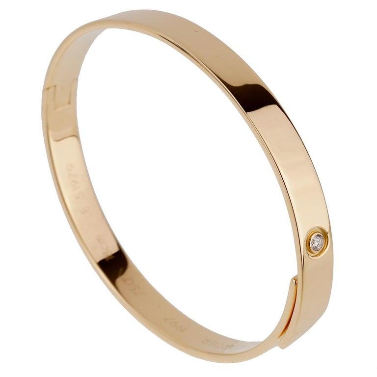 Cartier Anniversary Yellow Gold Diamond Bangle Bracelet