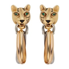 Cartier Panthere Day Night Gold Drop Earrings