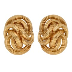 Tiffany & Co. Braided Gold Clip-On Earrings