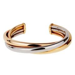 Cartier Trinity Gold Cuff Bangle Bracelet