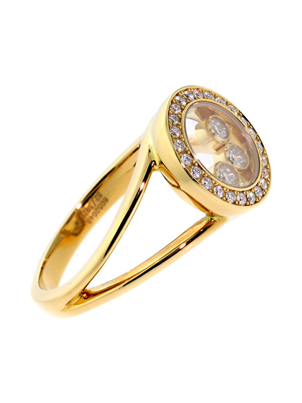 chopard happy circle ring in gold at 1stdibs