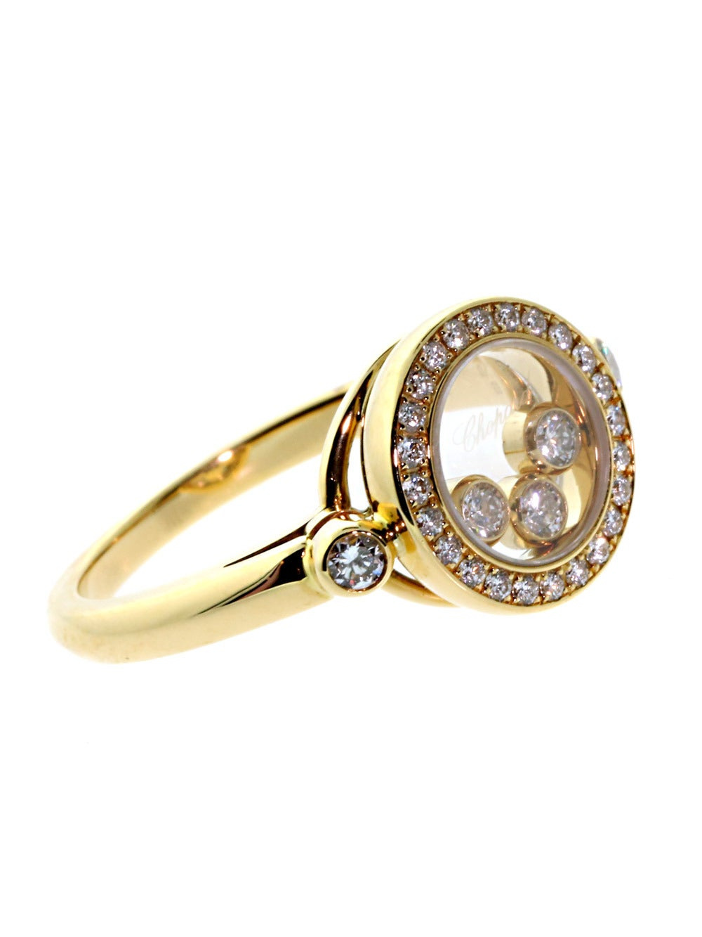 chopard happy ring in gold at 1stdibs