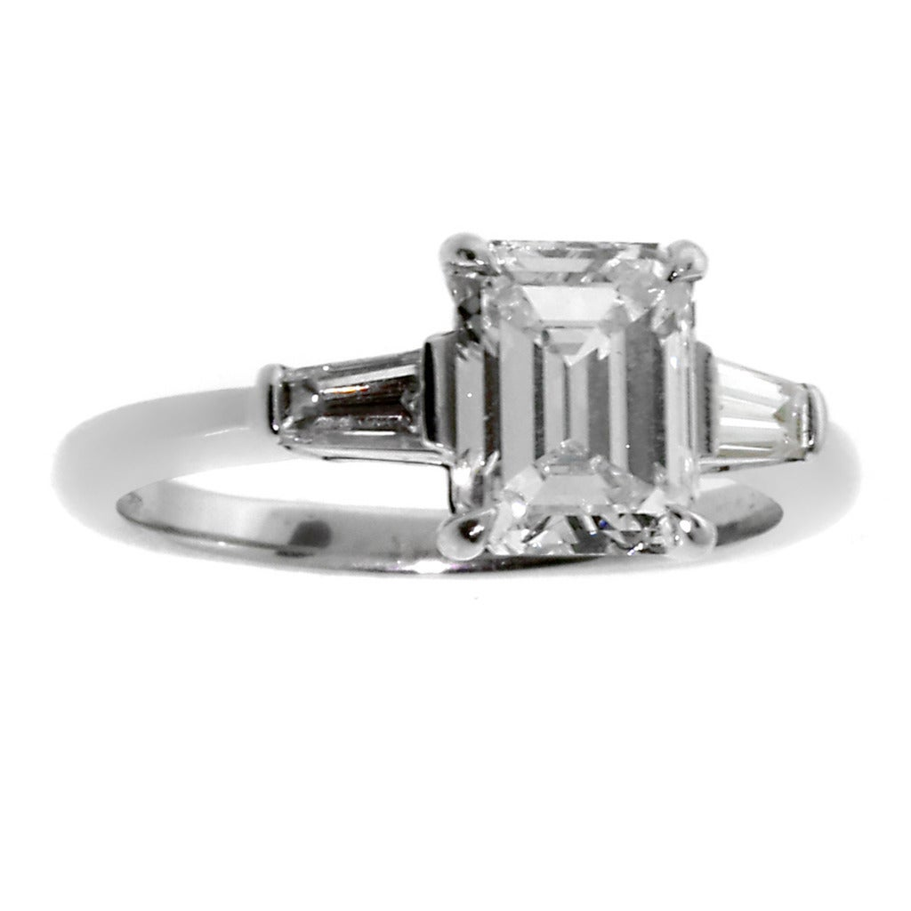 and co 1 80 carat emerald cut platinum