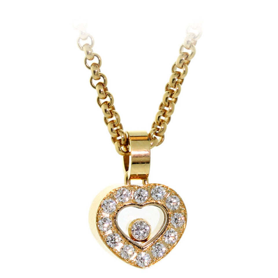 chopard happy gold necklace at 1stdibs