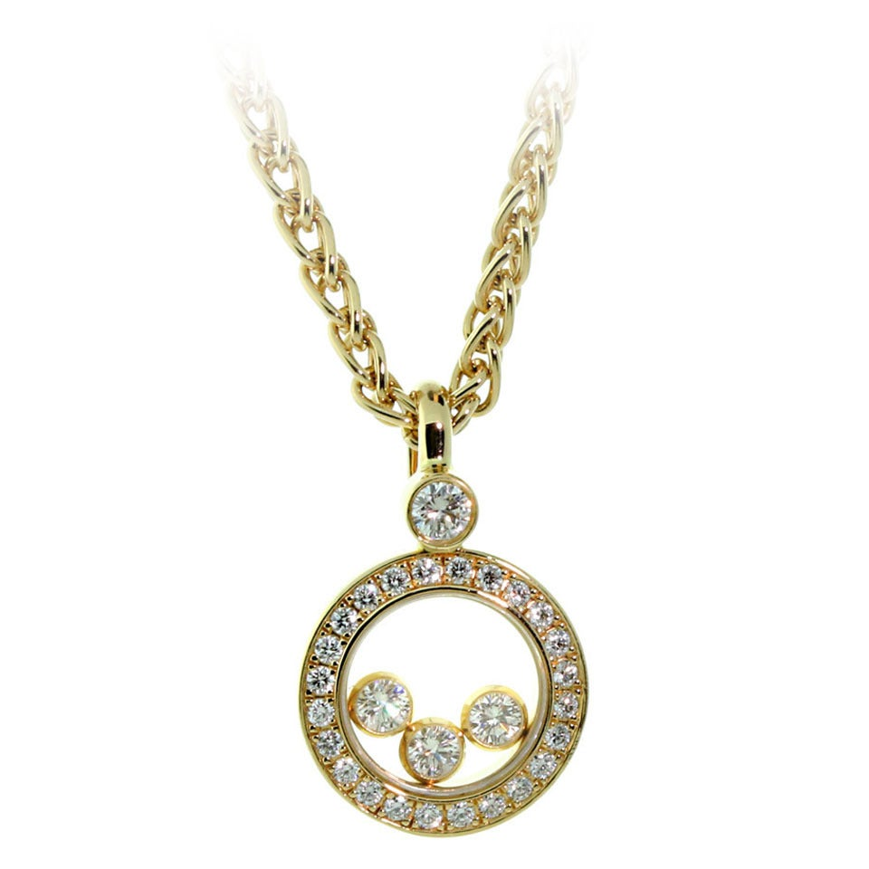 chopard happy necklace in gold at 1stdibs