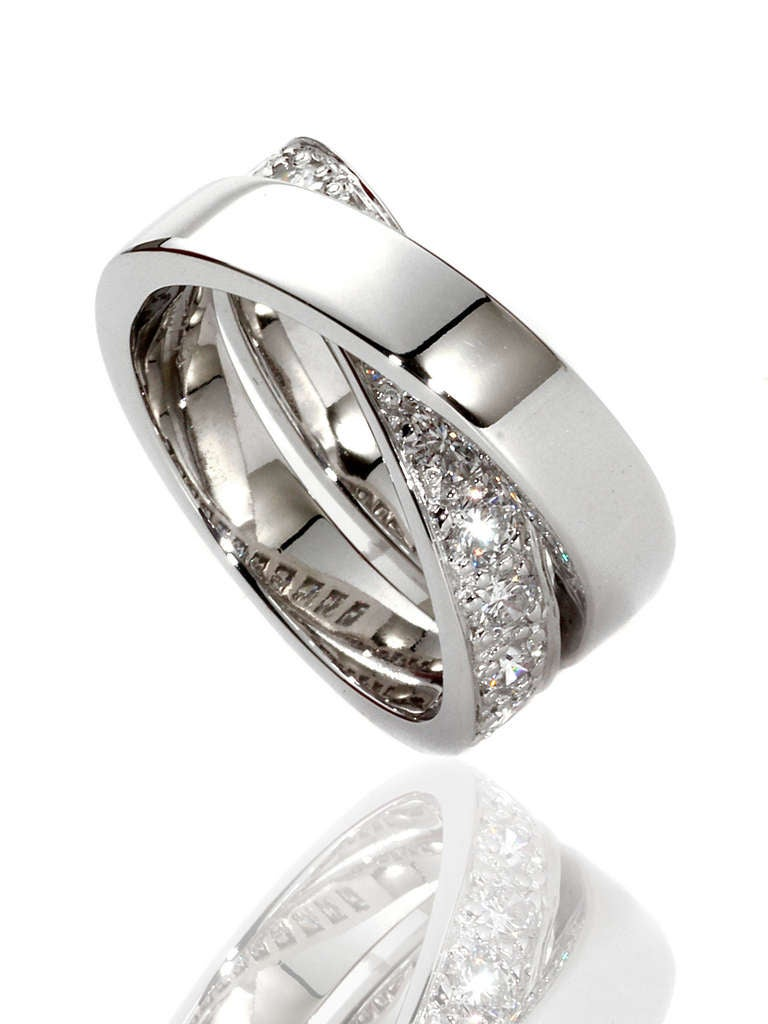 cartier nouvelle vague ring in white gold at 1stdibs
