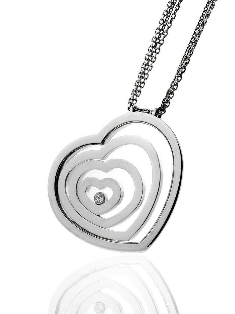 Chopard Happy Diamond Four Heart Gold Necklace 2
