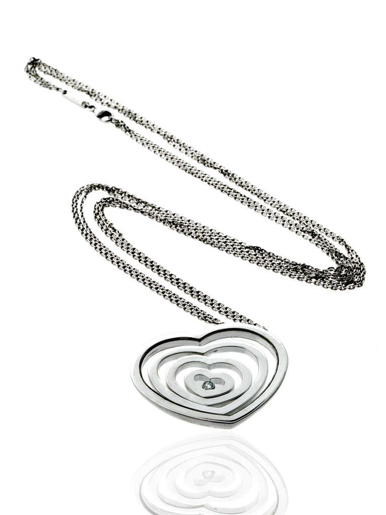 Chopard Happy Diamond Four Heart Gold Necklace 3