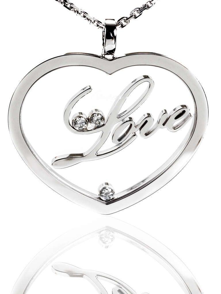 Chopard Happy Diamond Gold Heart Necklace 2