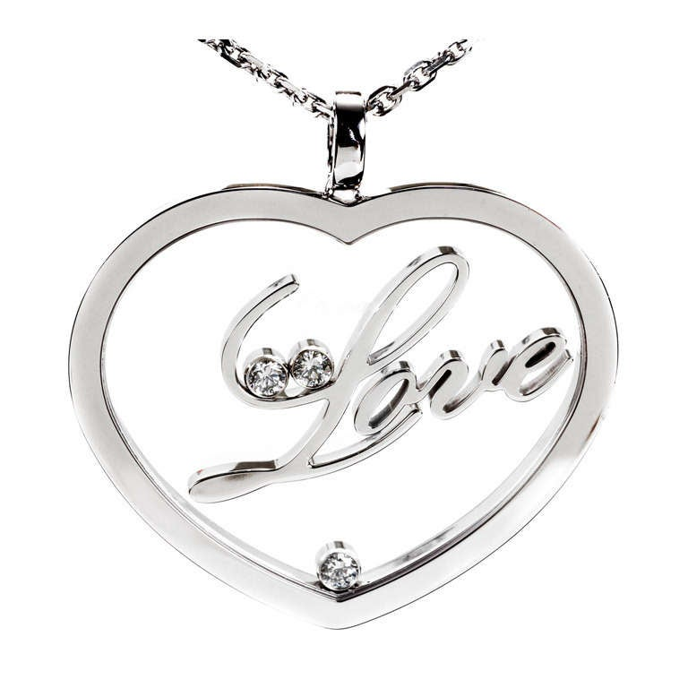 Chopard Happy Diamond Gold Heart Necklace 1