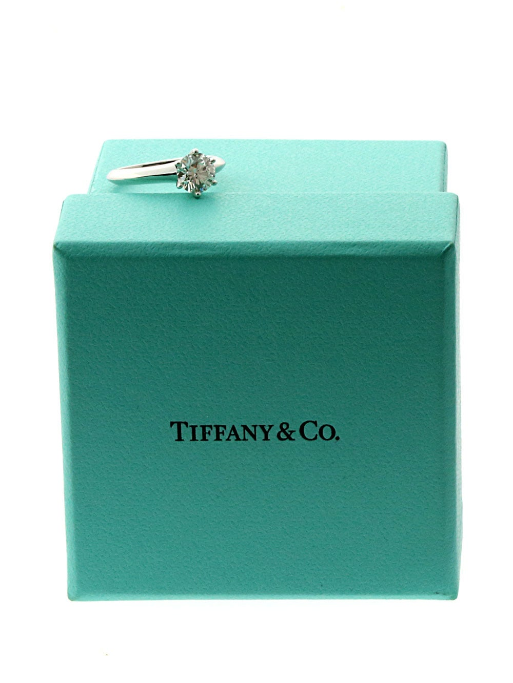 Tiffany & Co. Diamond Platinum Solitaire Ring In New Condition For Sale In Feasterville, PA