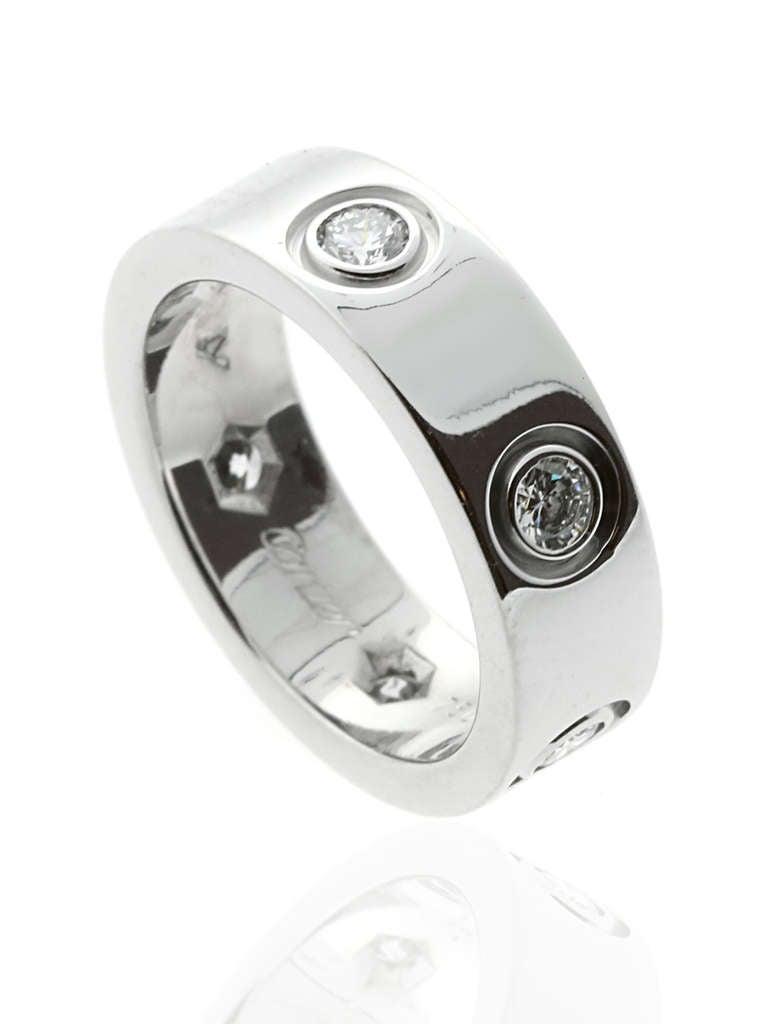 Cartier 6 Diamond Love Ring in White Gold 2