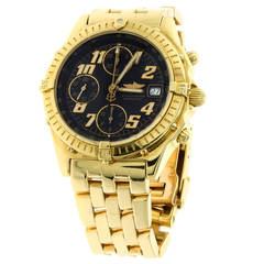 Breitling Yellow Gold Chronomat Automatic Wristwatch
