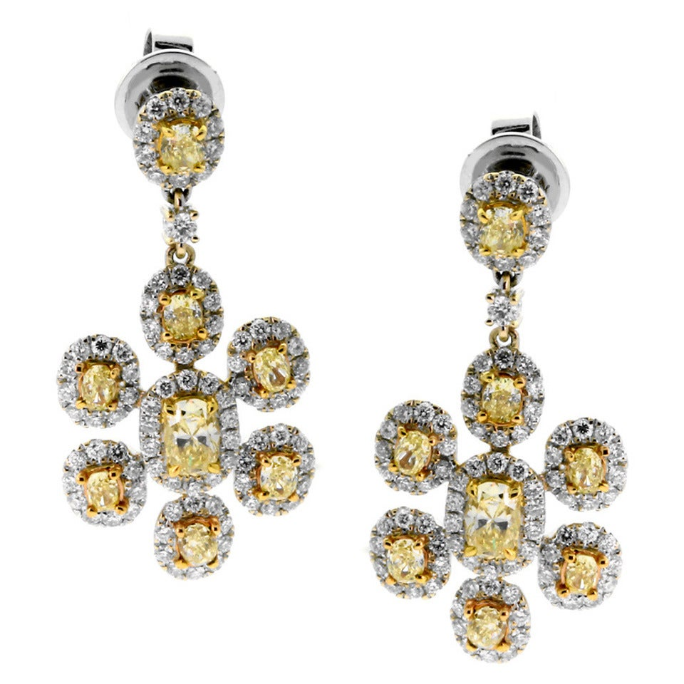 ye yellow stud diamond p canary earrings round