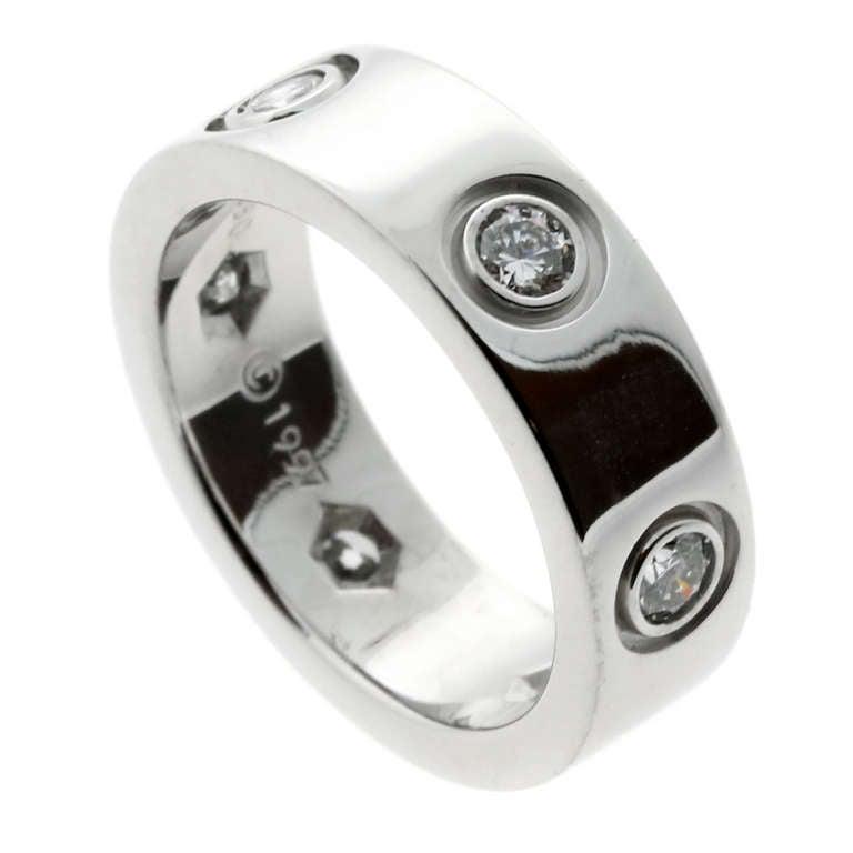Cartier 6 Diamond Love Ring in White Gold 1