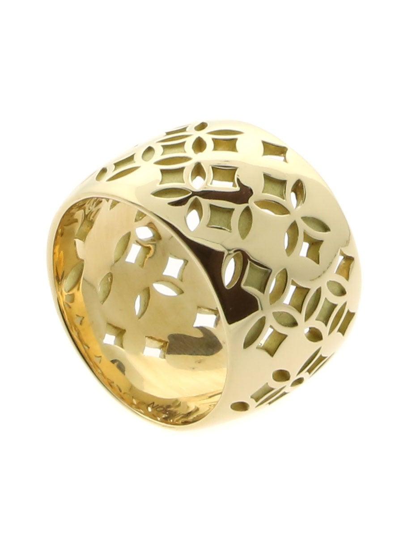 louis vuitton monogram gold ring at 1stdibs