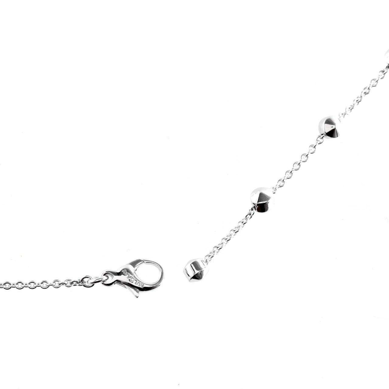 Women's Bulgari Lucea Diamond Gold Drop Necklace For Sale