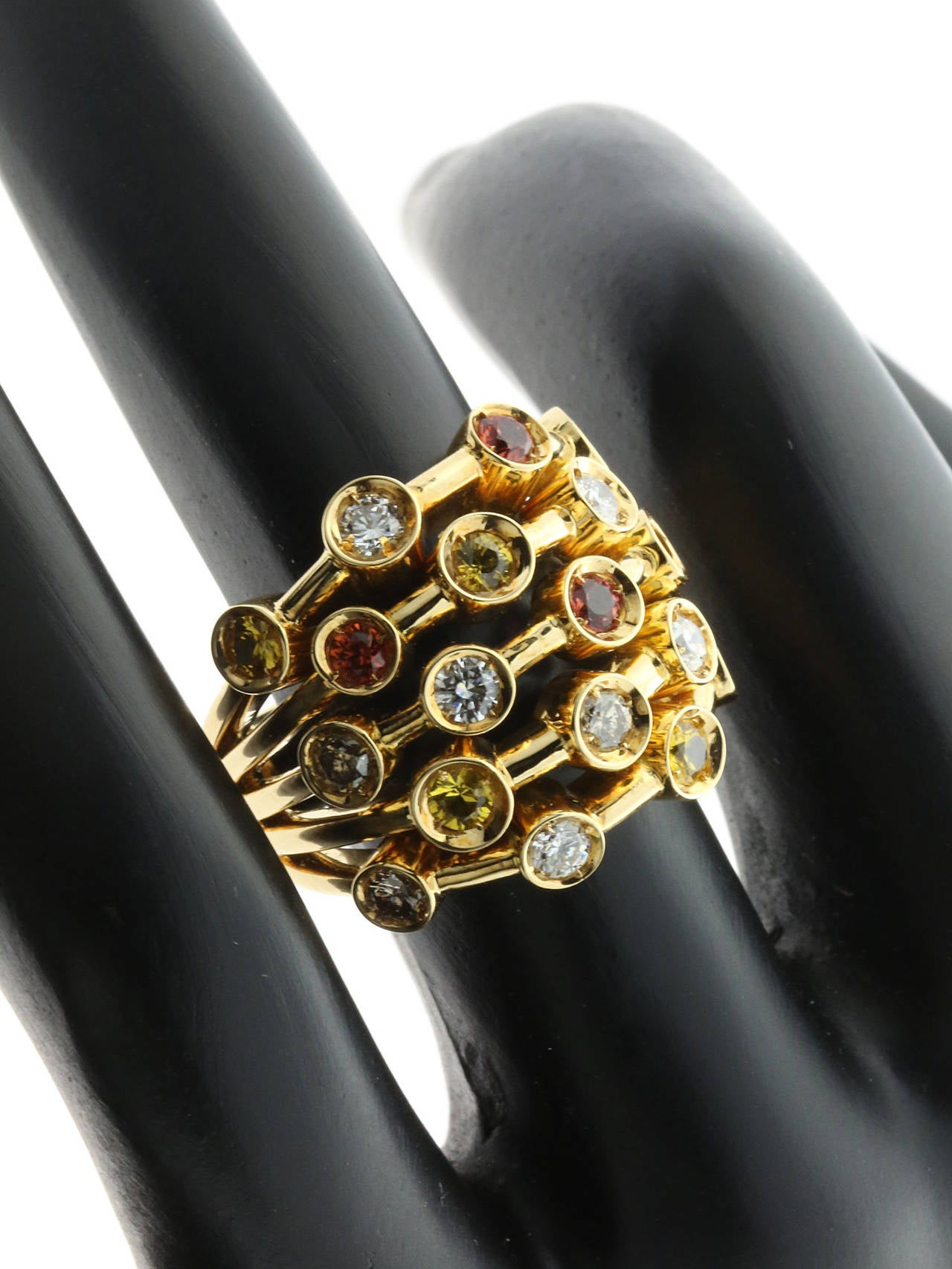 Chanel Sapphire Diamond Gold Ring For Sale 1