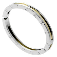 Bulgari Bzero1 Stainless Steel & Gold Bangle