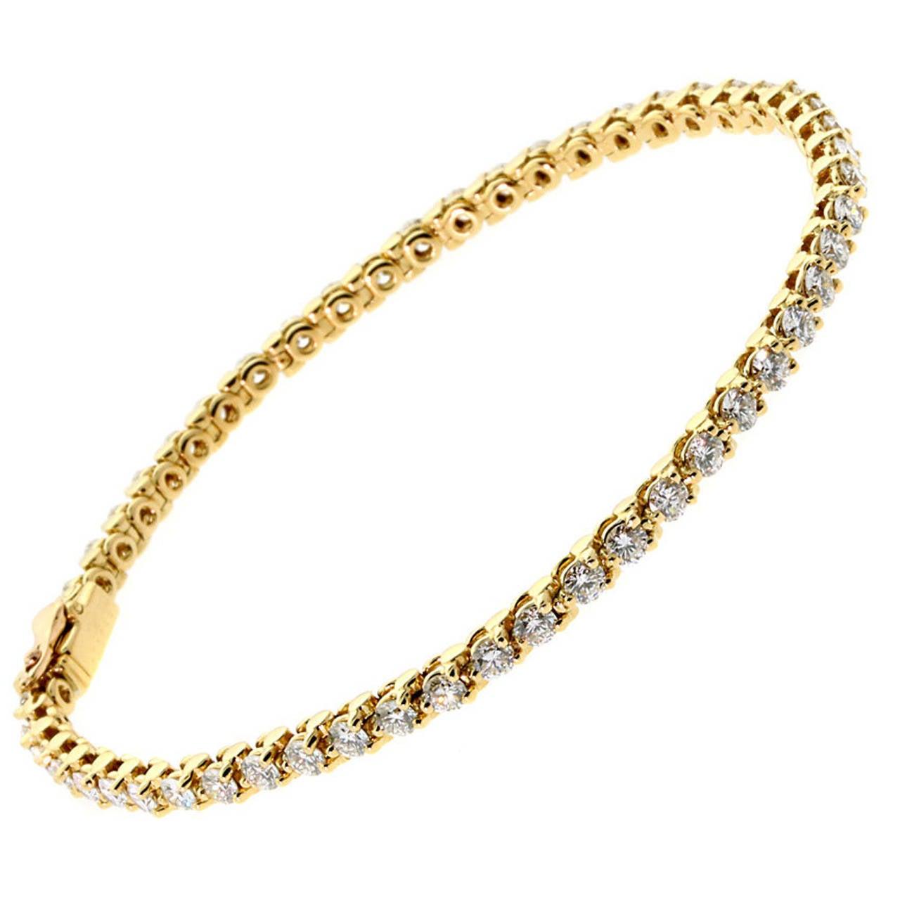 cartier gold tennis bracelet at 1stdibs