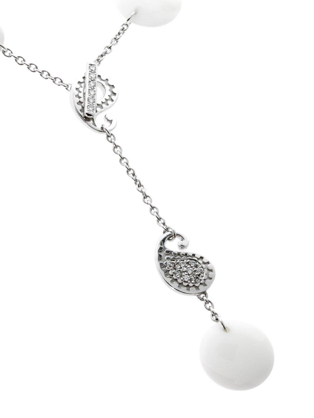 Carrera y Carrera Aquamarine Diamond Gold Lariat Necklace 2
