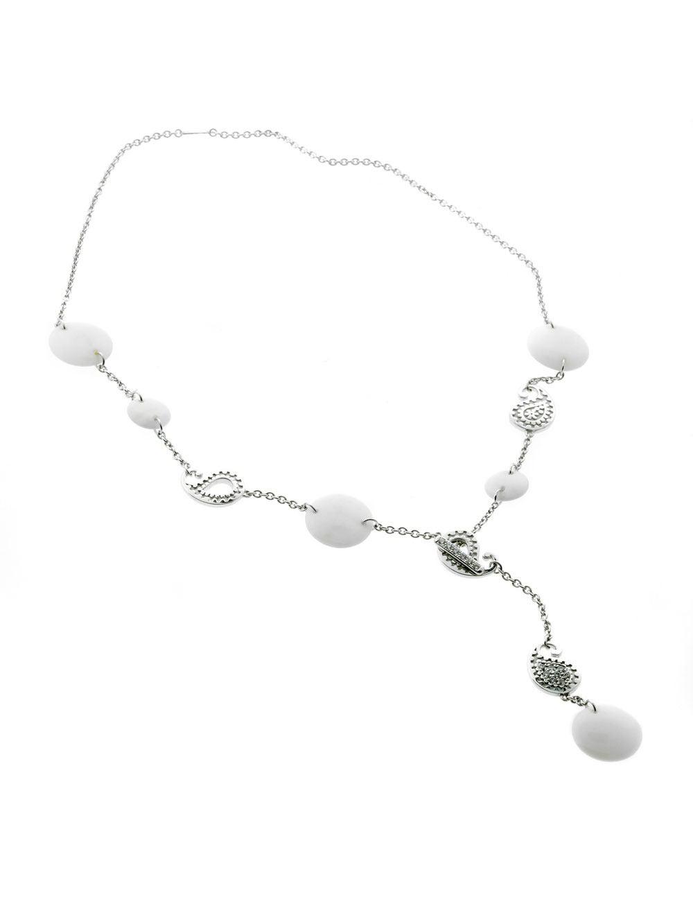 Carrera y Carrera Aquamarine Diamond Gold Lariat Necklace 4