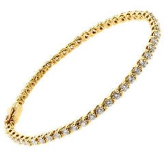 Cartier Diamond  Gold Tennis Bracelet