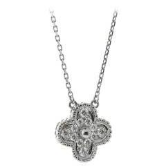 Van Cleef & Arpels Alhambra Diamond Gold Necklace