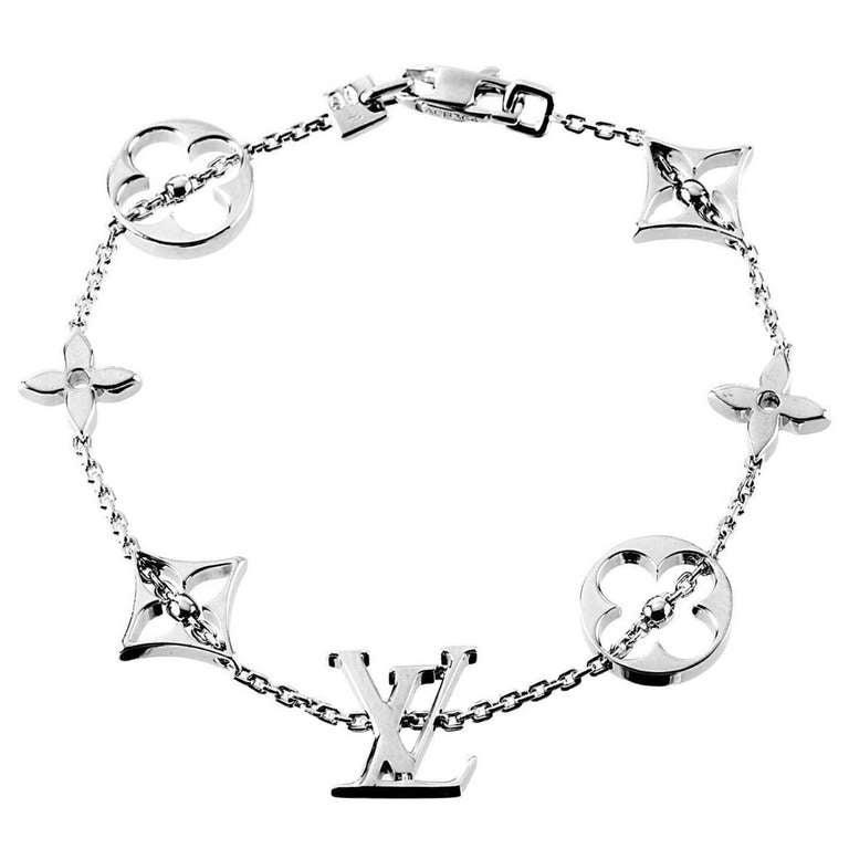 Louis Vuitton Gold Monogram Bracelet
