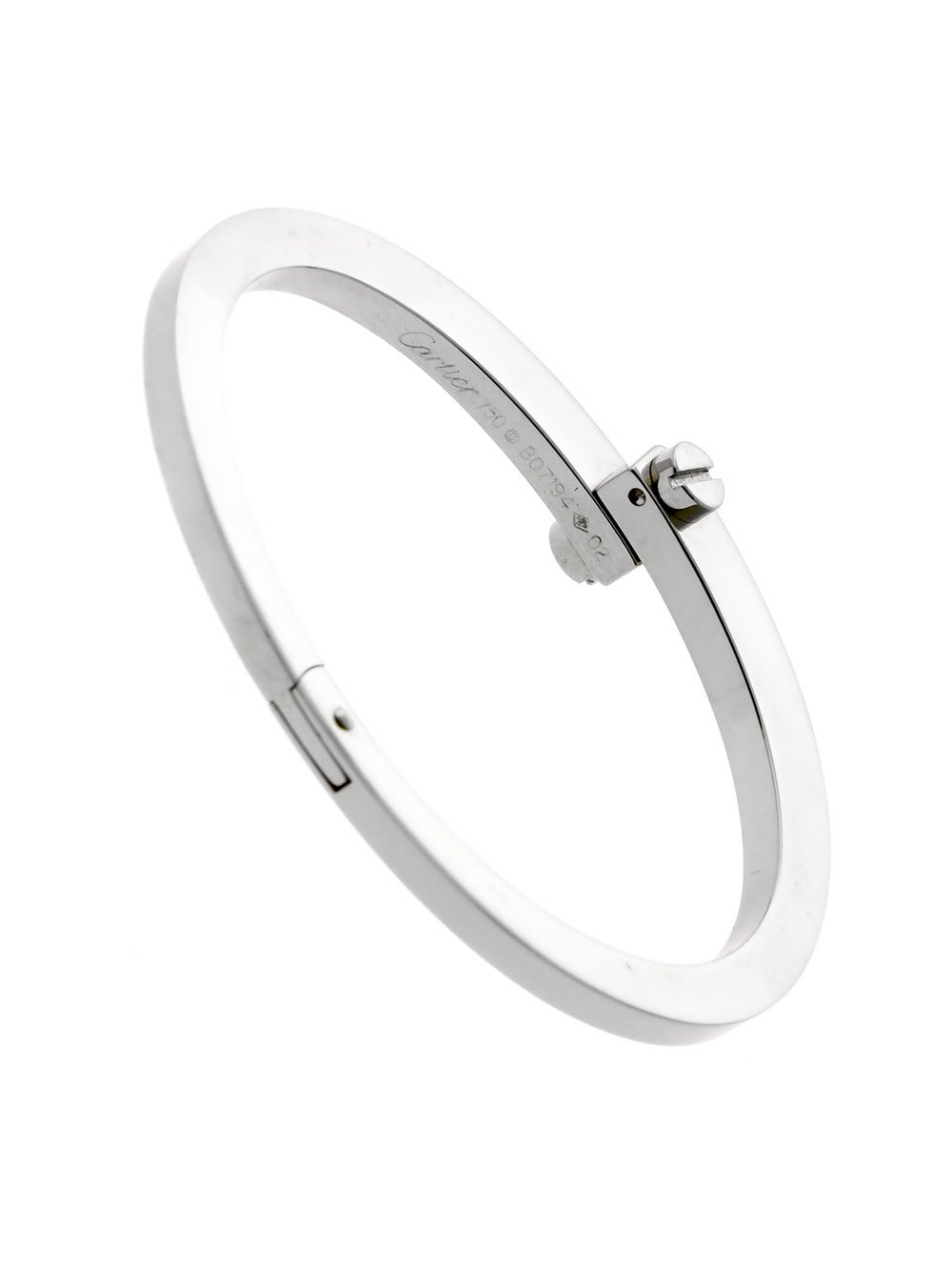 5059def5ec025 Cartier Handcuff White Gold Bangle Bracelet