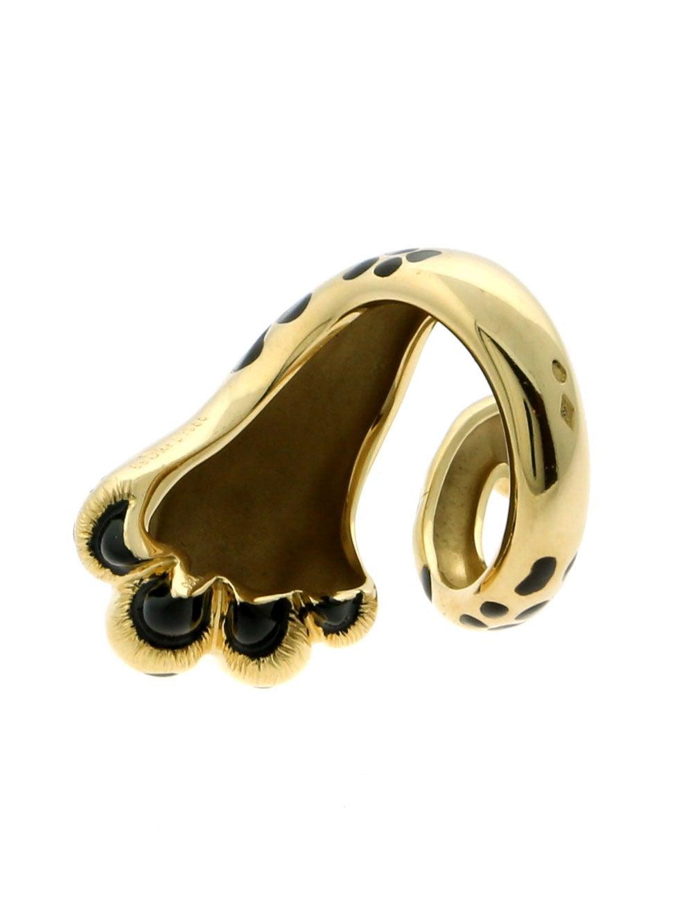 mitza panther gold ring at 1stdibs